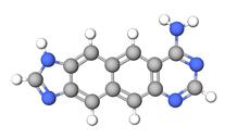 A adenina naftohomologada (xxA) incorpora a estrutura de naftaleno de dois anéis entre seus dois anéis nativos.