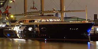 Black Pearl (yacht) - Black Pearl at night