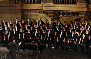 Yale Glee Club - Yale Glee Club performing in Woolsey Hall