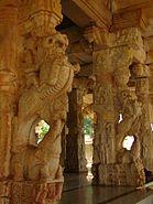 Yali pillars2 at Ranganatha temple in Rangasthala, Chikkaballapur district