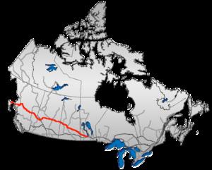 Yellowhead Highway - Image: Yellowhead route