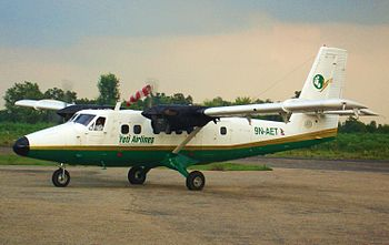 English: Yeti Airlines Twin Otter at Simara Ai...