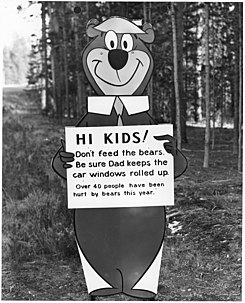 "Yogi Bear with ""don't feed the bears"" message - NARA - 286013.jpg"
