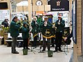 York Railway Institute Golden Rail Band, York station - geograph.org.uk - 1667312.jpg