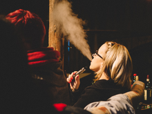 Aerosol (vapor) exhaled by an e-cigarette user may expose non-users to second-hand vapor.