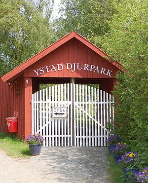 Ystad Djurpark - Image: Ystad Eingang zum Tierpark