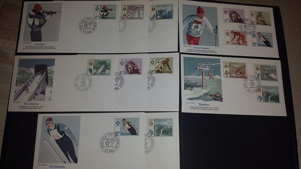 Yugoslavia postage stamps FDC (Sarajevo 1984 Winter Olympics)