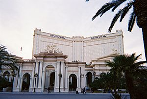 Monte Carlo Resort and Casino - Front view of the Monte Carlo