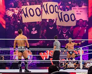 Zack Ryder - Fans supporting Ryder as he prepares to face The Miz in April 2012