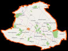 Mapa lokalizacyjna gminy Zakrzew