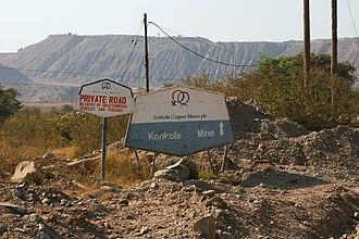 Copper in Africa - Nchanga copper mine, Zambia