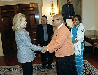Zarganar - Zarganar's 2012 visit to the United States to meet with Hillary Clinton.