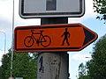 Zelené Předměstí, silnice 36, objížďka pro cyklisty a chodce.jpg