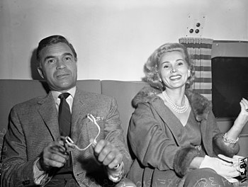 Actress Zsa Zsa Gabor with playboy Porfirio Ru...