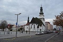 Egídia v Bardejova, vežu kostola.