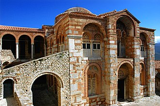 "Macedonian art (Byzantine) - Image: ""Hosios Lukas"" monastery, Greece © UNESCO World Heritage property panoramio (1)"