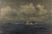 'Dazzle-painting' was a form of camouflage, and was particularly effective in moonlight. Wilkinson was responsible for the introduction of the 'dazzle' painted effect. As is evident in this image, the paint des Art.IWMART4029.jpg