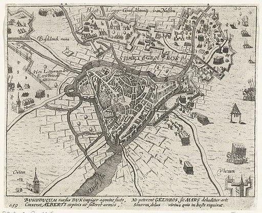 's-Hertogenbosch tevergeefs belegerd door Maurits, 1603, RP-P-OB-80.646