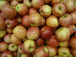 Photograph of a bunch of Royal Gala Apples from Chile