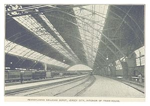 Exchange Place (PRR station) - The interior of the station's train house.