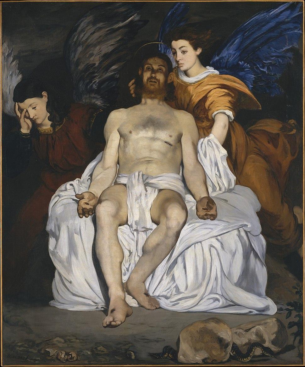 %C3%89douard Manet - Le Christ mort et les anges