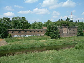 Poznań Fortress - Remains of the Cathedral Lock (Dom Schleuse), part of the original inner ring of defences