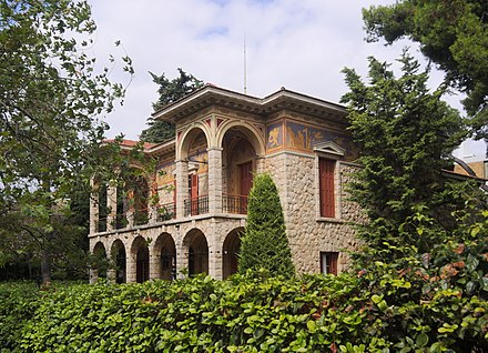 View of Vila Atlantis, in Kifissia, designed by Ernst Ziller. Bila Atlantis 3473.jpg