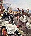 Ο Κολοκοτρώνης παρακολουθεί τα παληκάρια του να διασκεδάζουν.jpg