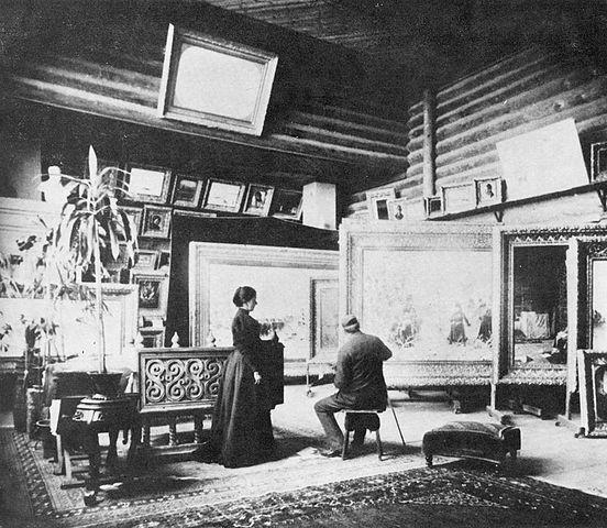 Мастерская В.В.Верещагина в его доме в Нижних Котлах