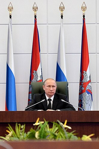 Supreme Commander-in-Chief of the Russian Armed Forces - Supreme Commander-in-Chief Vladimir Putin at the National Defense Management Center. December 19, 2014
