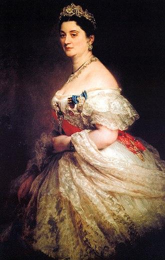 Ekaterine Dadiani, Princess of Mingrelia - Portrait by Franz Xaver Winterhalter