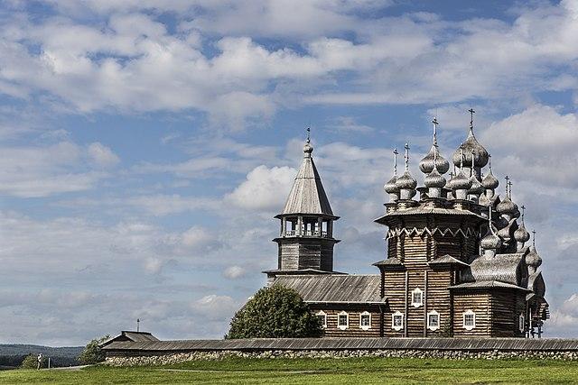 Iglesia de la Transfiguración. Reserva de Arquitectura de Madera de Kizhí, República de Carelia, Rusia.