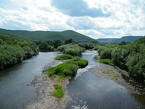 Arsenyevka River - The Arsenyevka River near the selo (rural locality) of Anuchino in Anuchinsky District