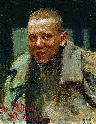 Desertion - Deserteur (Дезертир), by Ilya Repin, 1917