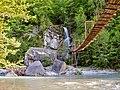 Сочинский национальный парк. Подвесной мост через реку Бекишей к водопаду Шапсуг 2.jpg