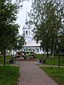 Церковь Александра Невского (вид с аллеи).JPG