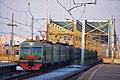 ЭД4М-0043 прибывает на пл. Москворечье с Сабуровского моста.jpg