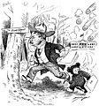 """To the Woods!"" Cartoon Featuring President Theodore Roosevelt and the Teddy Bear Character (3678707841).jpg"