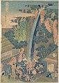 諸國瀧廻リ 相州大山ろうべんの瀧-Rōben Waterfall at Ōyama in Sagami Province (Sōshū Ōyama Rōben no taki), from the series A Tour of Waterfalls in Various Provinces (Shokoku taki meguri) MET DP141253.jpg