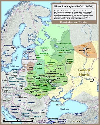Ruthenians - ''Ruskaya zemlya'', or Kievan Rus', also known as Ruthenia, c. 1230