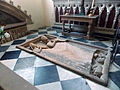 048 Stoke Rochford Ss Mary & Andrew, interior - north chapel floor slab to John & Elizabeth de Neville.jpg