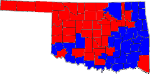 United States Senate election in Oklahoma, 2004 - Image: 04OKSenate Counties