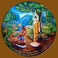 060 Blessings of Success 4, Psychic Power overcomes Angulimala (9273467508).jpg