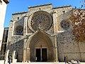 077 Monestir de Sant Cugat del Vallès, façana oest.JPG
