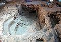 081 Restes del baptisteri de l'antiga seu d'Ègara, al subsòl de l'antiga rectoria (Terrassa).JPG