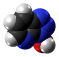 1-Hydroxy-7-azabenzotriazole molecule spacefill from xtal.png
