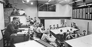 No. 10 Group RAF - The Middle Wallop operations room in use in 1943