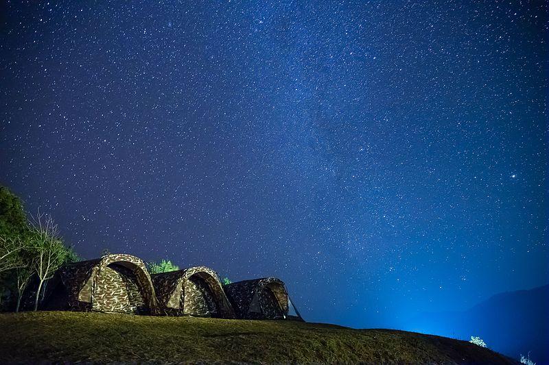 File:1104 Camping with stars in the night sky at Doy Samur Dow - Si Nan National Park, Nan, Thailand.jpg