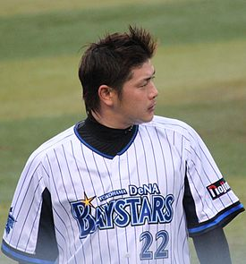 120503 Kentaro Takasaki, pitcher of the Yokohama DeNA BayStars, at Yokohama Stadium.JPG