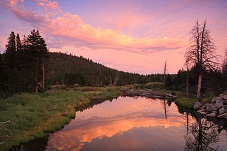 Tahoe National Forest - Sunset over the Little Truckee River